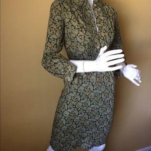 Vintage paisley print dress